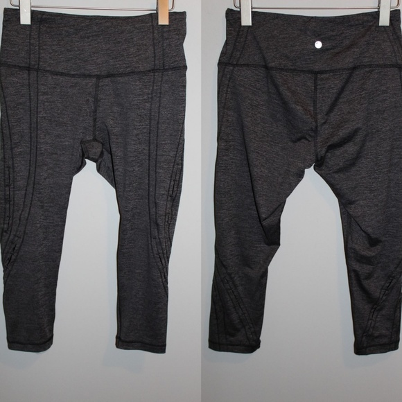 056ca9ee62 Yogalicious Pants | Yoga Crop Marled Gray Hw5048 | Poshmark